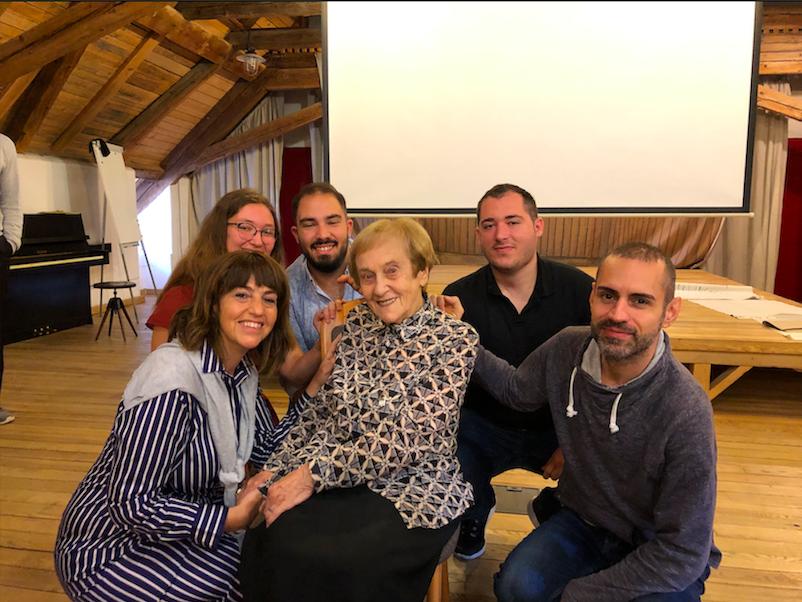March of the Music 2019, Öykü Üçgüler, Nurullah Ejder, Caner Yazıcı, Elcil Gürel Göçtü, Renan Koen together with Holocaust Survivor Doris Grozdanovičová