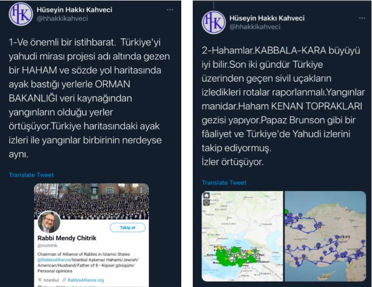 Hüseyin Hakkı Kahveci's Twitter post