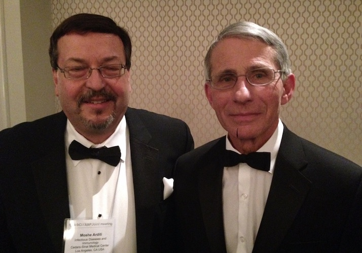 Dr. Moshe Arditi together with Dr. Anthony Fauci