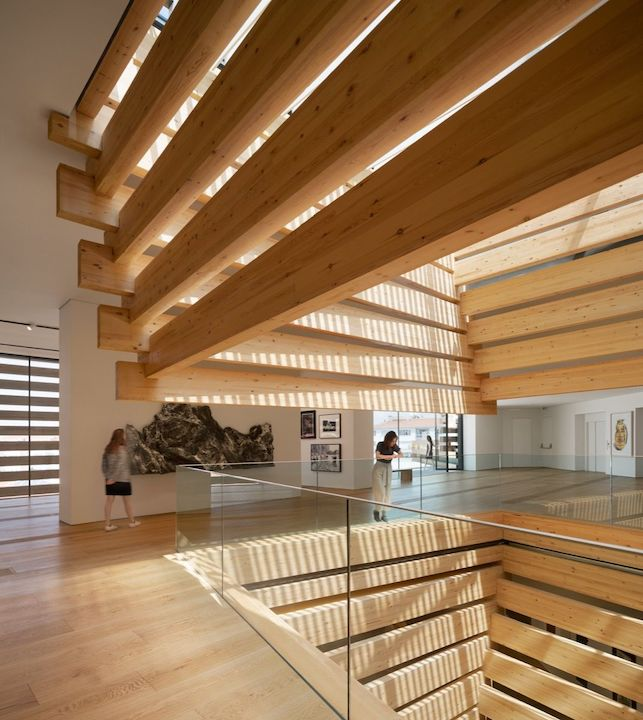 Interior view of OMM. Photo by Kengo Kuma and Associates. ©NAARO. Courtesy of the Odunpazari Modern Museum (OMM). Courtesy of the Odunpazari Modern Museum (OMM).