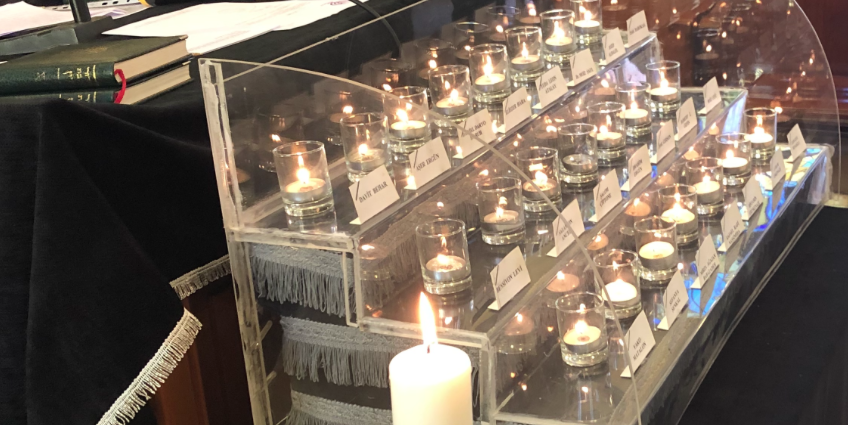 Candles lit for the lives lost in Neve Şalom terror attack