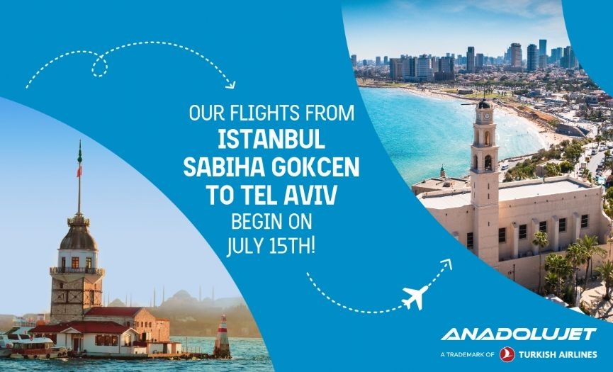 Anadolu Jet is Starting its Flights to Israel