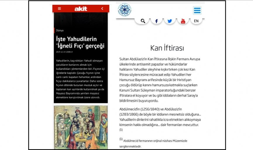 Middle Age Antisemitism from the Turkish Newspaper - Cont´d.