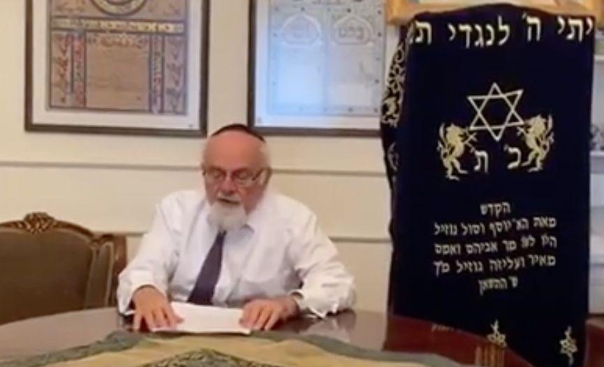 Chief Rabbi Isak Haleva Sent a Video Message About Coronavirus Epidemic