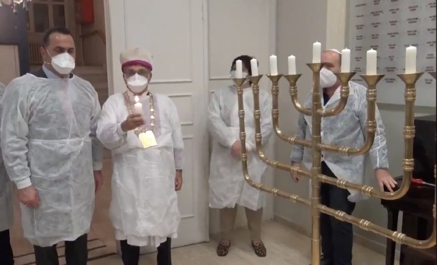 Mayor of Beyoglu Visited Or-Yom for Hanukkah