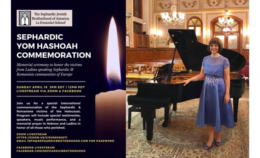 Renan Koen´s Live Performance During Sephardic Jewish Brotherhood´s Commemoration