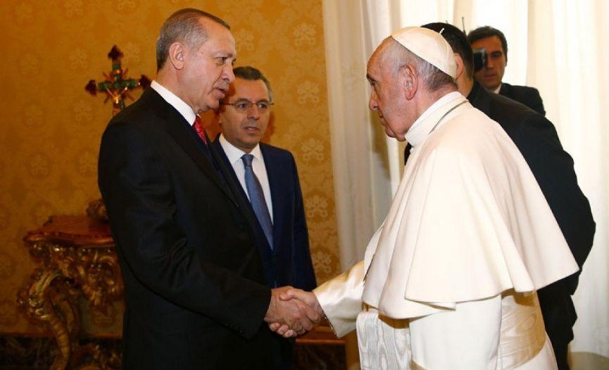 President Erdoğan Talked to Pope Francis on Gazze