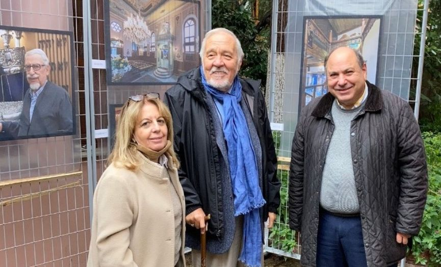 Ilber Ortayli´s Visit to ´Synagogues of Turkey´ Exhibition