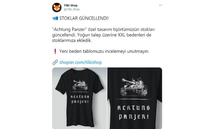 ´Achtung Panzer´: Interest for Nazi Panzer Print T-shirt Online