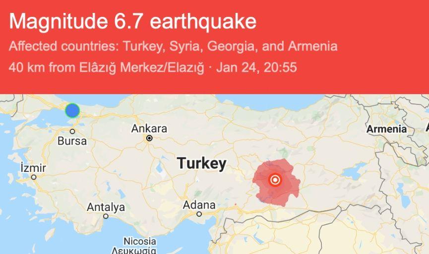 A Massive Earthquake in Elaziğ, Turkey