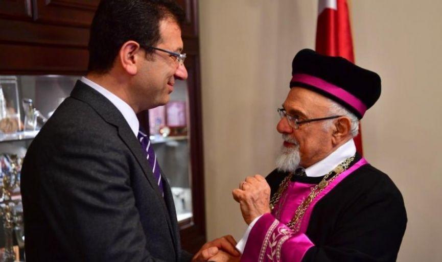 CHP's Istanbul Mayoral candidate Ekrem Imamoğlu visited Turkey's Chief Rabbi Isak Haleva