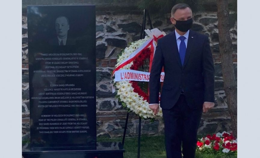 President of Poland Inaugurated the Monument in Istanbul in Memory of the Diplomat Who Saved Jews