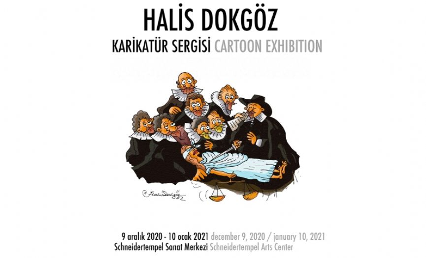 Halis Dokgöz´s Cartoon Exhibition at Schneidertempel