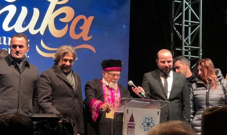 Hanukkah 2019 was Celebrated in Galata