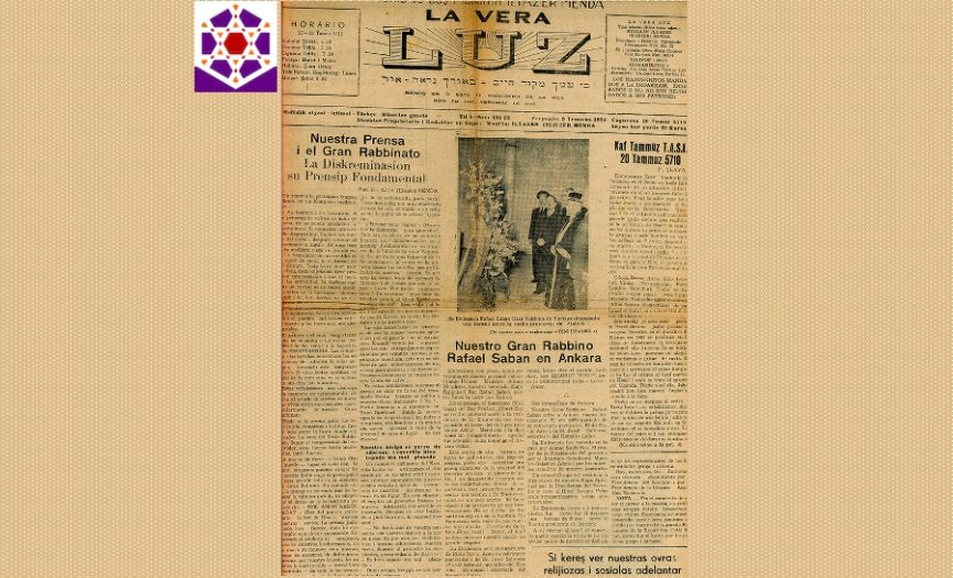 From the Museum of Turkish Jews: ´La Vera Luz Newspaper´