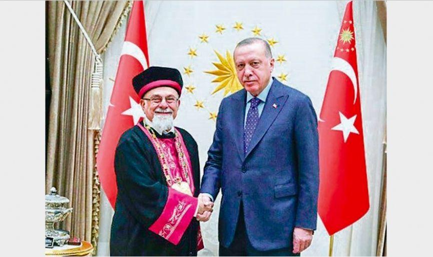 Chief Rabbi Isak Haleva Visited President Erdoğan