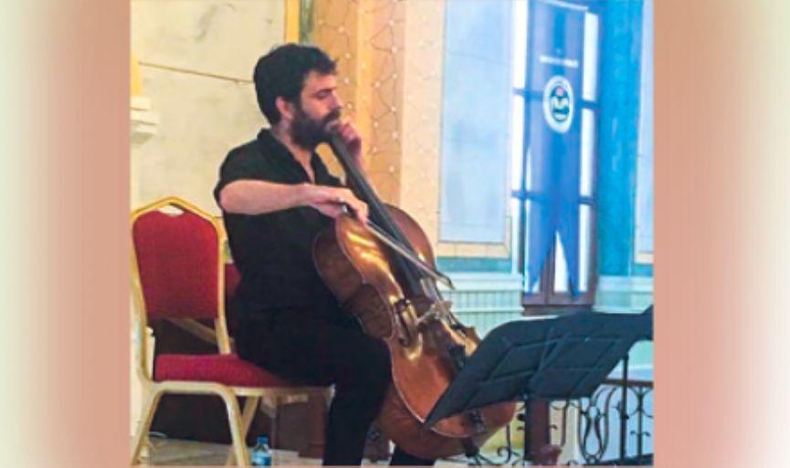 Israeli cellist Dan Weinstein was in Edirne Synagogue