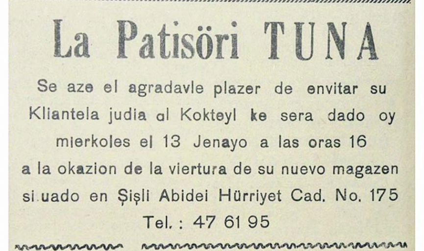 Once Upon a Time Jewish Life in Istanbul, in Ladino Ads – 2