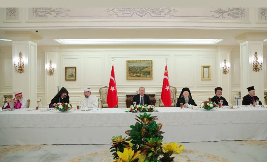 President Erdoğan Welcomed Representatives of Minority Foundations for Iftar