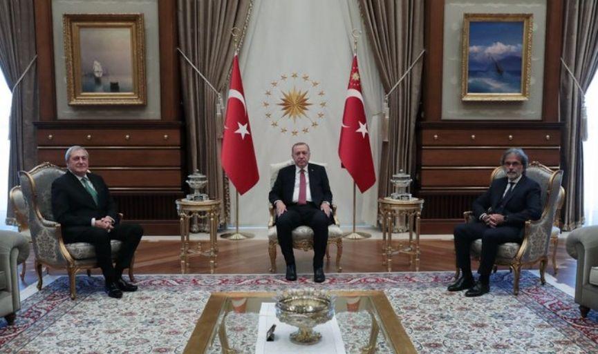 Jewish Community co-presidents visited President Tayyip Erdoğan