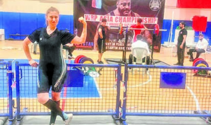 Suzi Avni became the Asia Powerlifting Champion